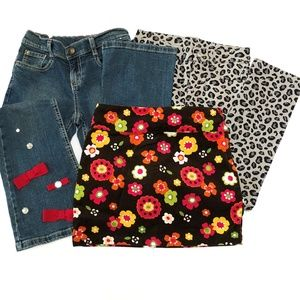 Lot 3 Gymboree Girls Size 8 Jeans Leopard Pants